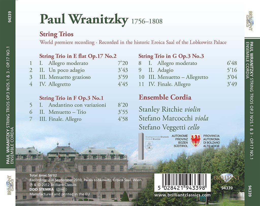 Paul Wranitzky - String Trios