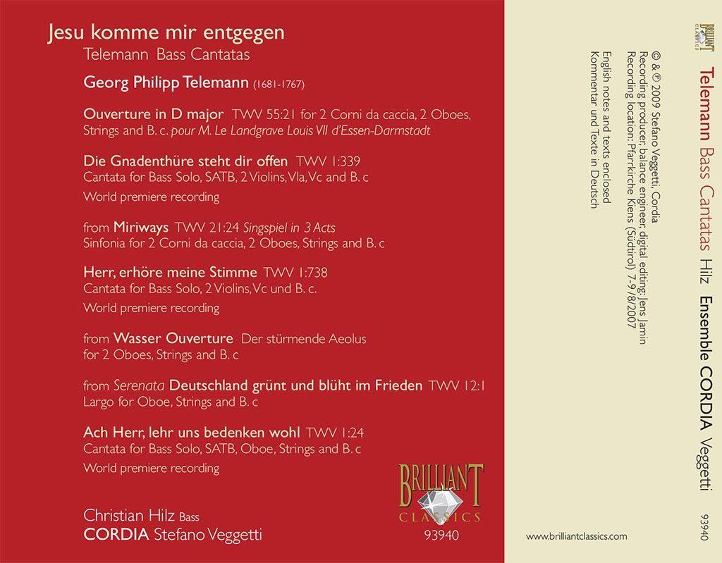 Telemann - Bass Cantatas